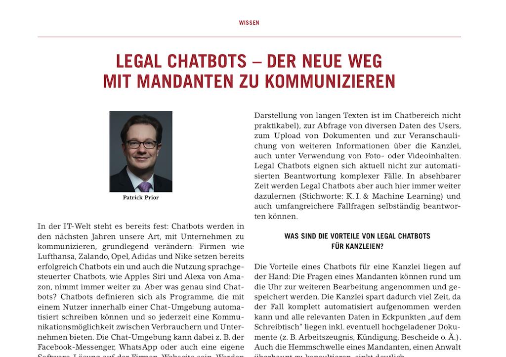Chatbot Berliner Anwaltsblatt